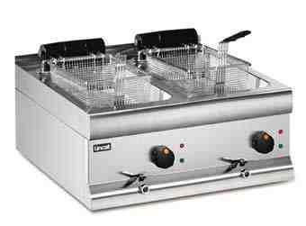 Lincat Silverlink 600 DF66 Twin Tank Twin Basket Counter Fryer 2 x 3kW - Image