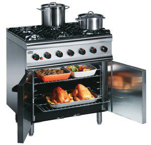 Lincat Silverlink 600 SLR9 Medium Duty Six Burner Oven Range - Image