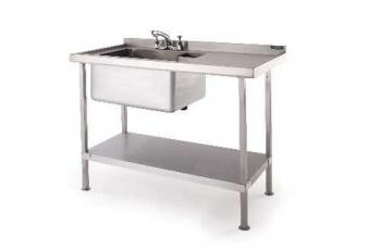 Moffat Single Bowl Left Hand Sink 1200mm (flat packed) - Image