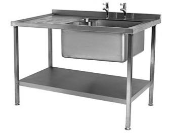 Moffat Single Bowl Right Hand Sink 1200mm (flat packed) - Image