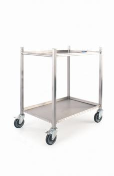 Moffat 800mm Mobile Kitchen Trolley 2 Shelves - Image