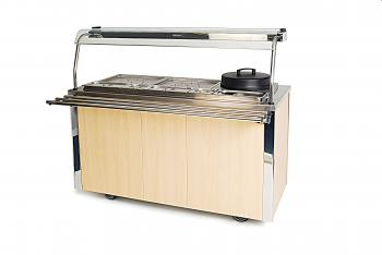 Moffat VCCV4 Carte Stainless Steel Carvery Unit 1490mm - Image