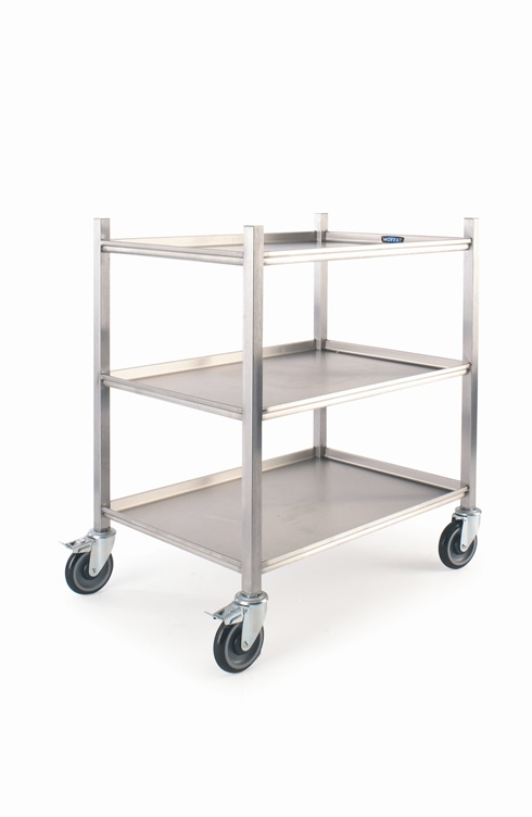 Kitchen equipment pictures - Moffat 800mm Mobile Kitchen Trolley 3 Shelves